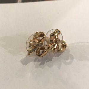 Kate Spade Gold Bow & Rhinestone Earrings